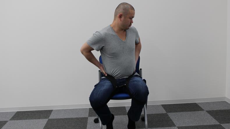 腸腰筋ストレッチベルト ラクナール19